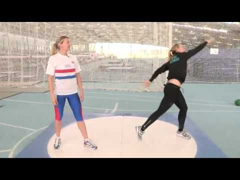 How To Throw A Shot Put - YouTube