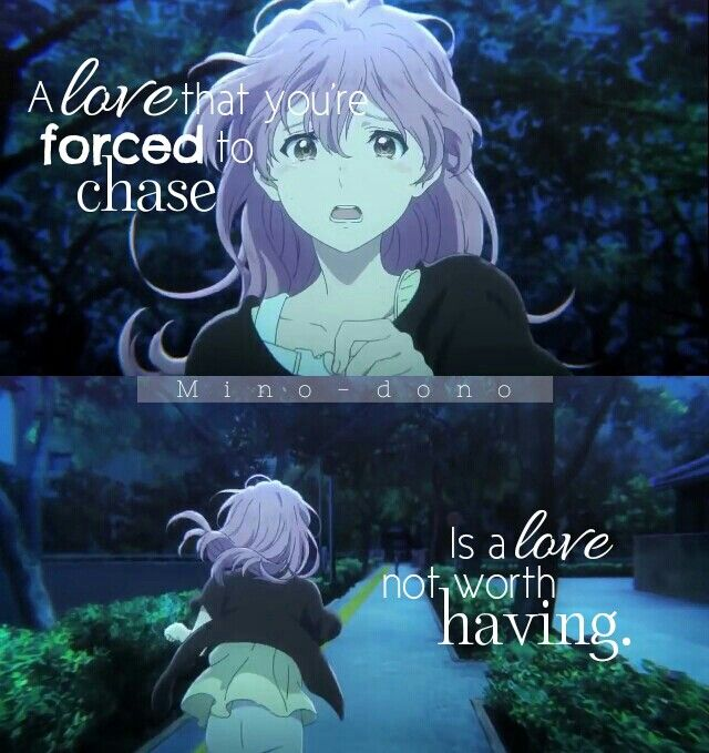 || Un amor que estás forzada a seguir, es un amor que no merece la pena. | Traducción ES: @sukigamer88 || Koe no Katachi || Mino-dono ||