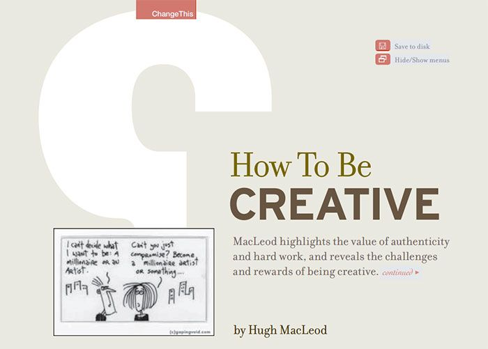 How To Be Creative free ebook