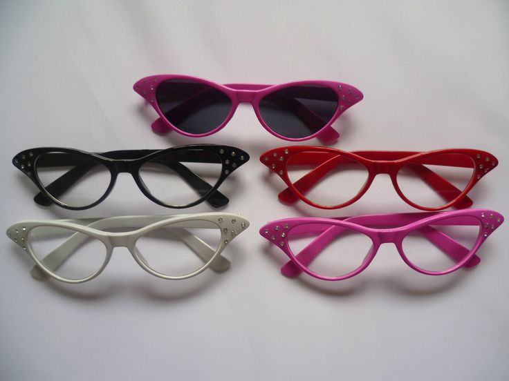 GREASE PINK LADIES 50'S STYLE NOVELTY FANCY DRESS GLASSES HEN PARTY