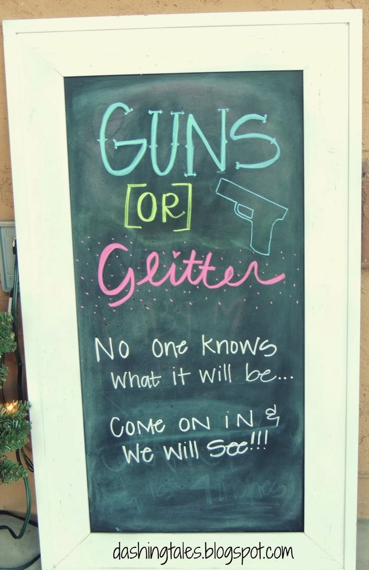Dashing Tales: Guns or Glitter {Gender Reveal Party}
