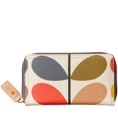 Orla Kiely | USA | accessories | Wallets & Pouches | Classic Multi Stem Big Zip Wallet (0ETCCMS122) | multi