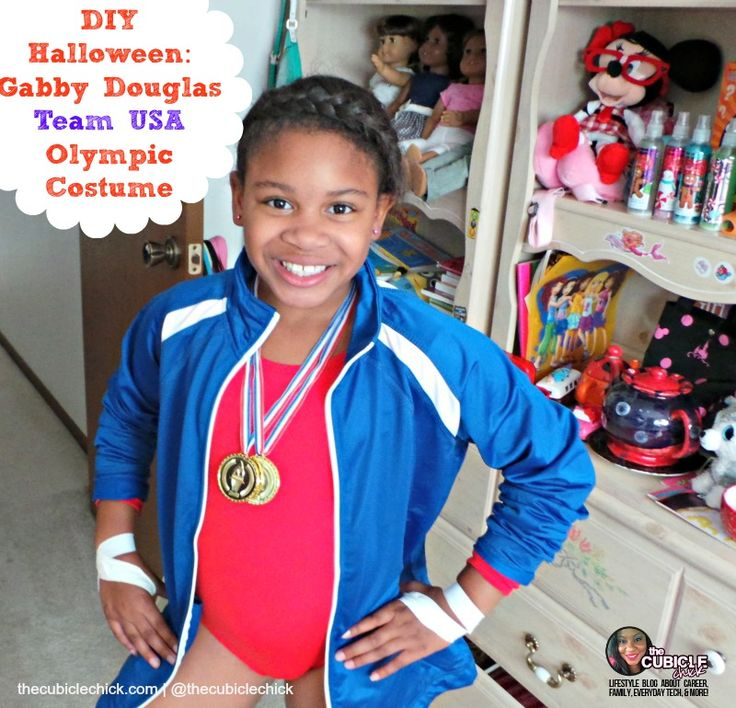 DIY Halloween Gabby Douglas Team USA Olympic Costume #Halloween #DIY #costumes