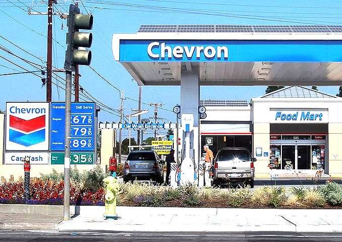 Another Picture Of A Chevron Petrol Station It Also Looks