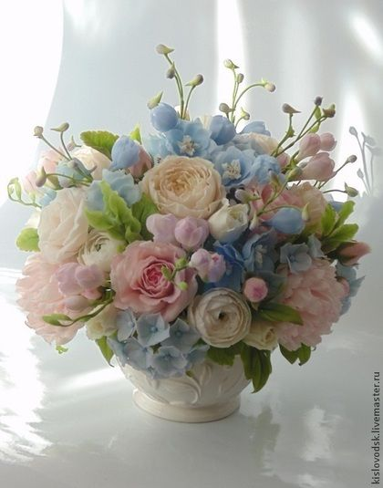 Flores hechas a mano.  Masters Feria - composición artesanal Sé feliz!.  Hecho a mano.