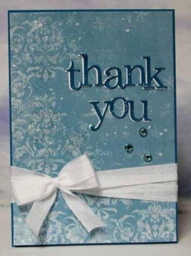 Lorraine's January CT - Snowy Thank You Card