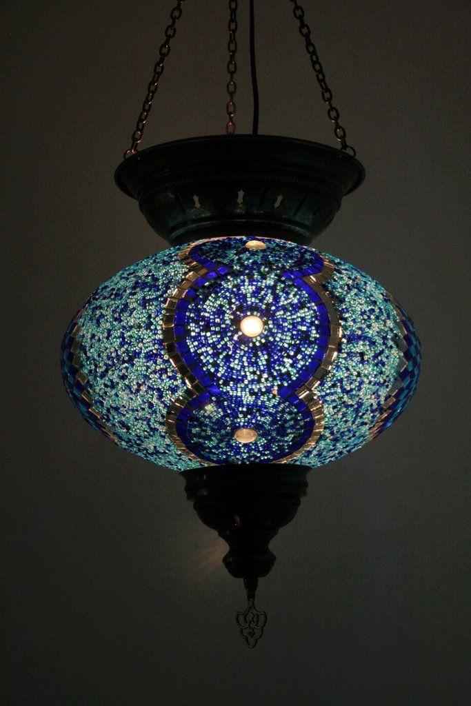 Great Blue Turkish Mosaic Lamp Shade – Bohomio