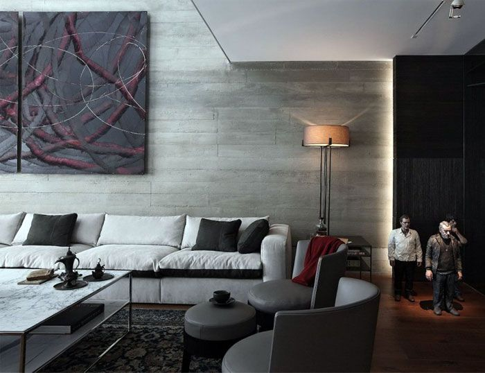 Glamorous  Istanbul Apartment by Tanju Ozelgin dynamic living space first floor