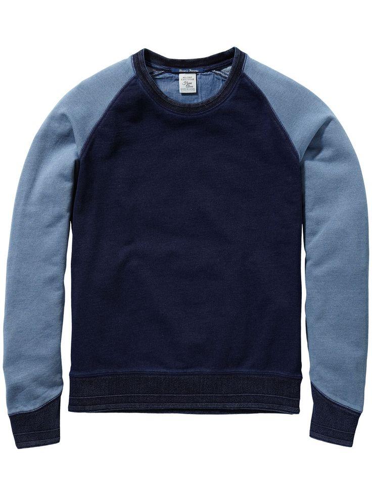 Tweekleurige sweater | Sweat | Herenkleding bij Scotch & Soda