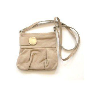 Echtleder-Handtasche taupe