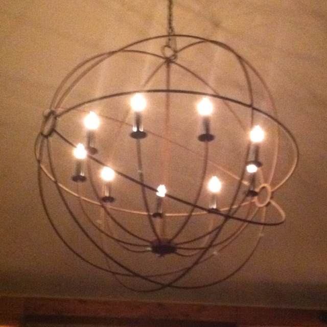 Light fixture at The Plaid Goat in Comfort, TX. Love it!