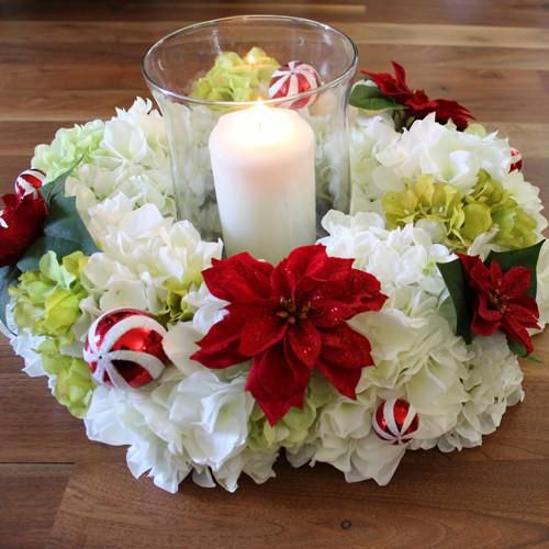 Diy candle ring centerpiece flowers pinterest event