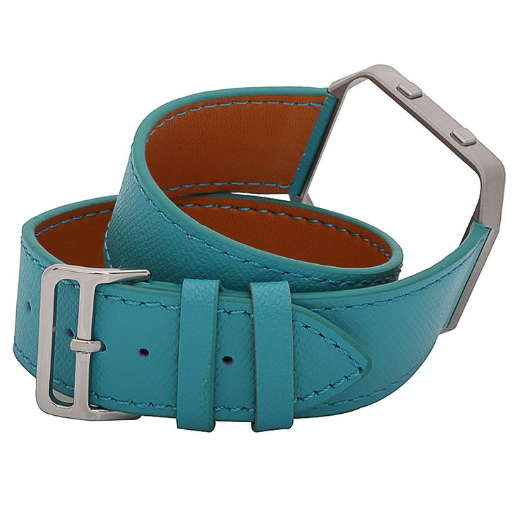 FOHUAS Genuine Leather Strap  For fitbit Blaze Cross pattern double tour Wartch Band in Retail Package