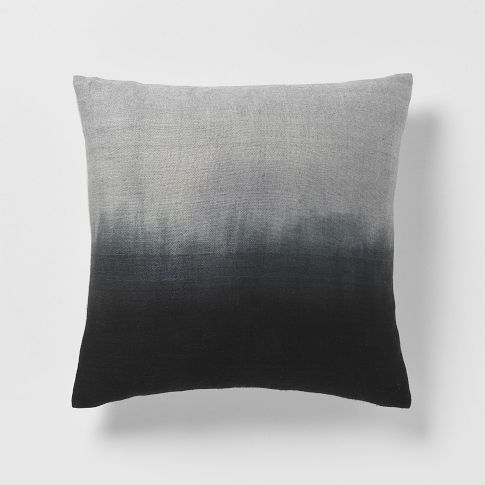 DIP-DYE RAINBOW SILK PILLOW COVER from West Elm  @Araya Charles @ Wind and Willow Home - thought of you when I saw this!  Future product inspiration?  Pillow covers?!