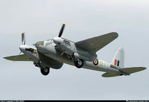 The only remaining flying DH.98 Mosquito in the world.