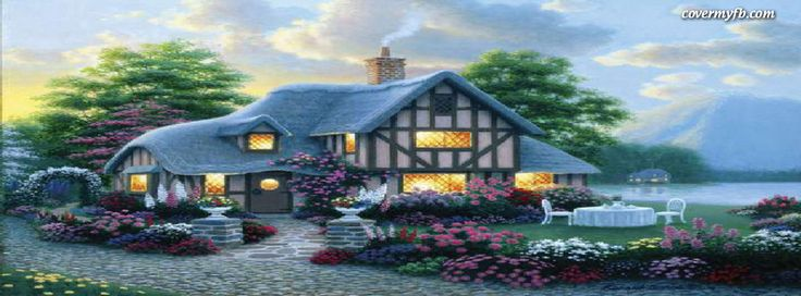 Cottage In The Spring Facebook Covers, Cottage In The Spring FB Covers, Cottage In The Spring Facebook Timeline Covers, Cottage In The Spring Facebook Cover Images