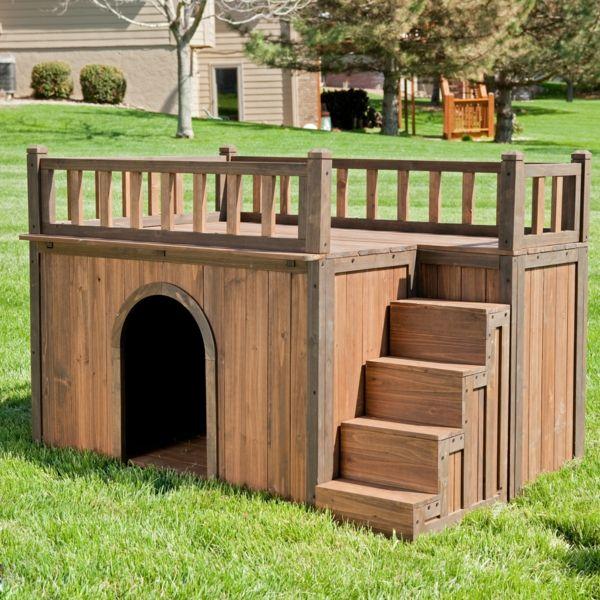 grand niche pour chien en bois