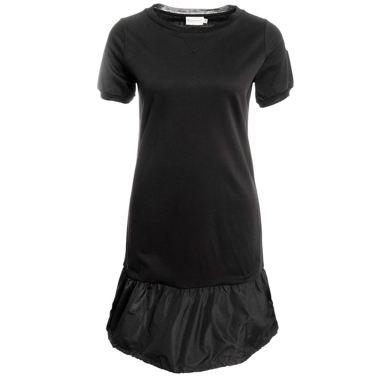Moncler Kleid mit Neopren-Schößchen in Schwarz