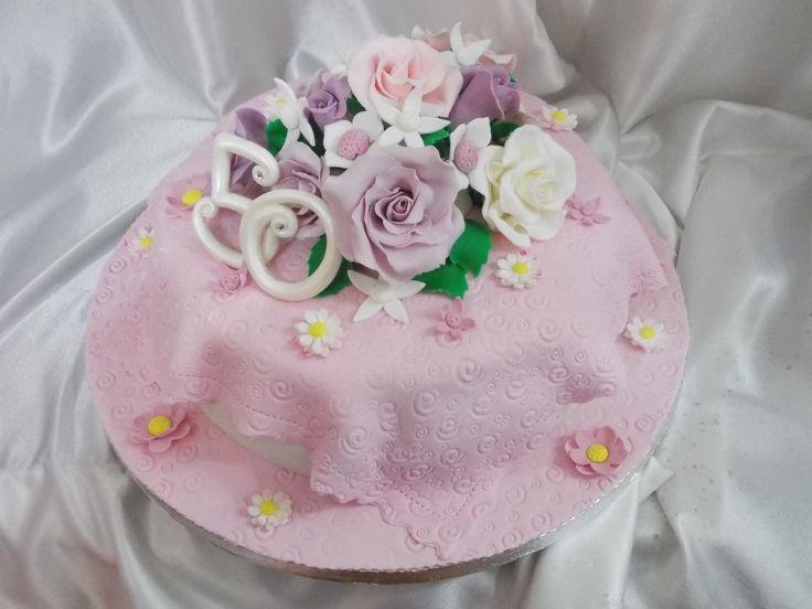 Bouquet merletto rosa