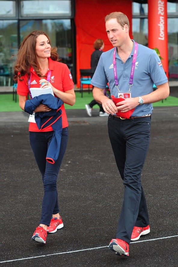 August 30 2012    She wore jeans and a Team GB polo shirt to attend the Paralympic Games with Prince William.