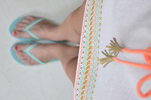 DIY: Azték ruha kínai pólóból