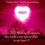 Missing you good morning quote, Beautiful animated picture message,Miss you Good Morning wishes for him for her