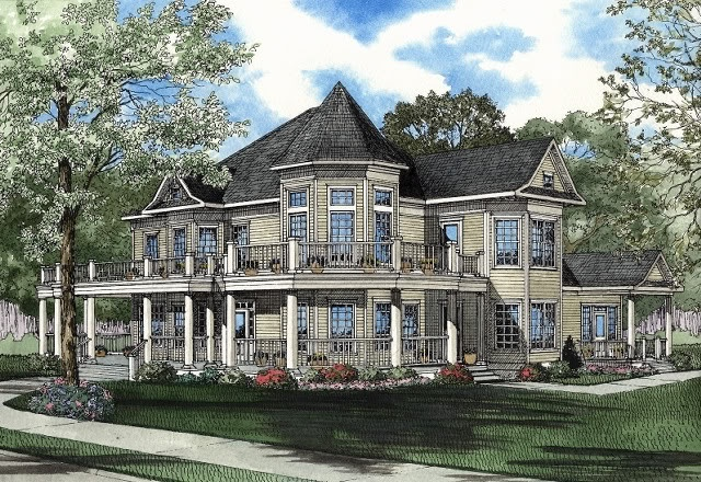 Modern Victorian Home victorian style house plans - 2561 square foot home, 2 story, 4