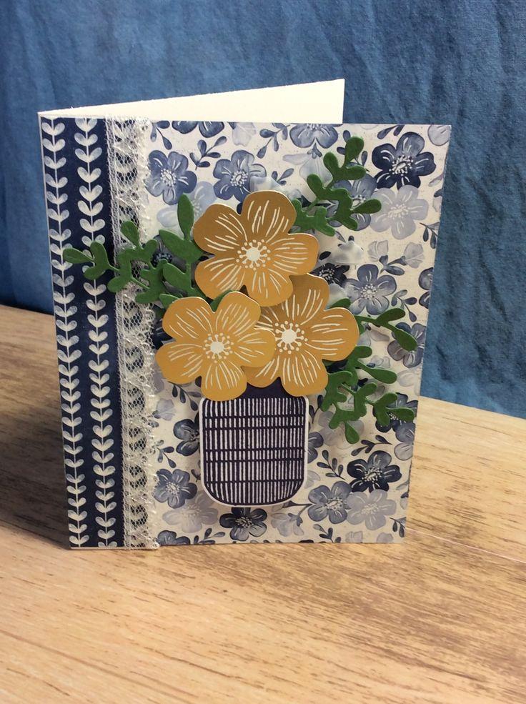 Boho indigo stampin up cards handmade stamping up cards