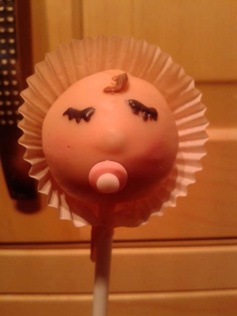 A Baby Girl Cake Pop!