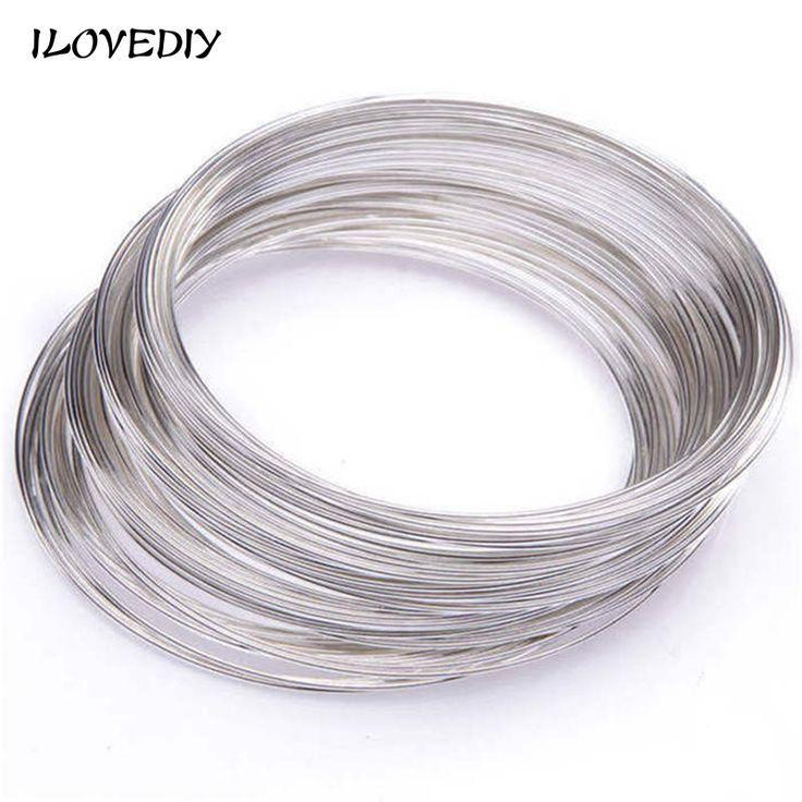 100 Loops 6 Colors Steel Memory Wire DIY Jewelry Cuff Bangle Bracelet 0.6x60mm