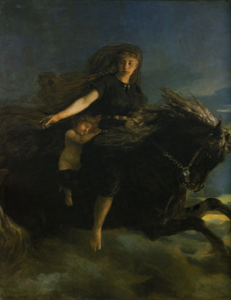 "Nótt - Goddess of night - In Norse mythology, Nótt (Old Norse ""night"") is night personified."