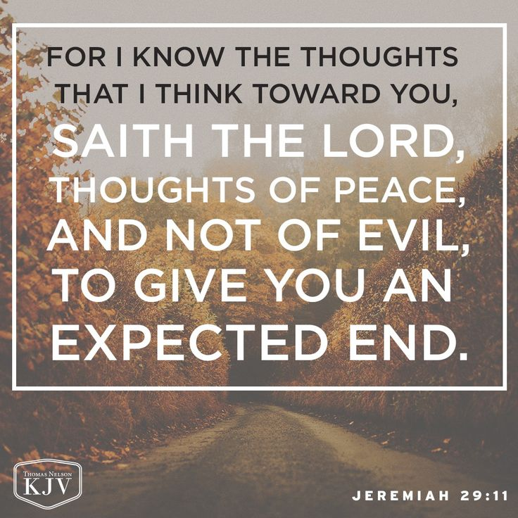 KJV Verse of the Day: Jeremiah 29:11
