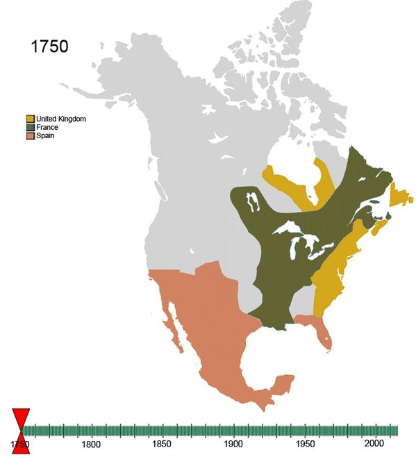Video Map of Historical control of North America