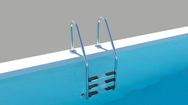 """Meine kleine """"Bade"""" Serie endet diese Woche mit dem Objekt Pool Leiter weite Ausladung für ARCHLine.XP und Thea Render. Virtueller Badespaß garantiert."""