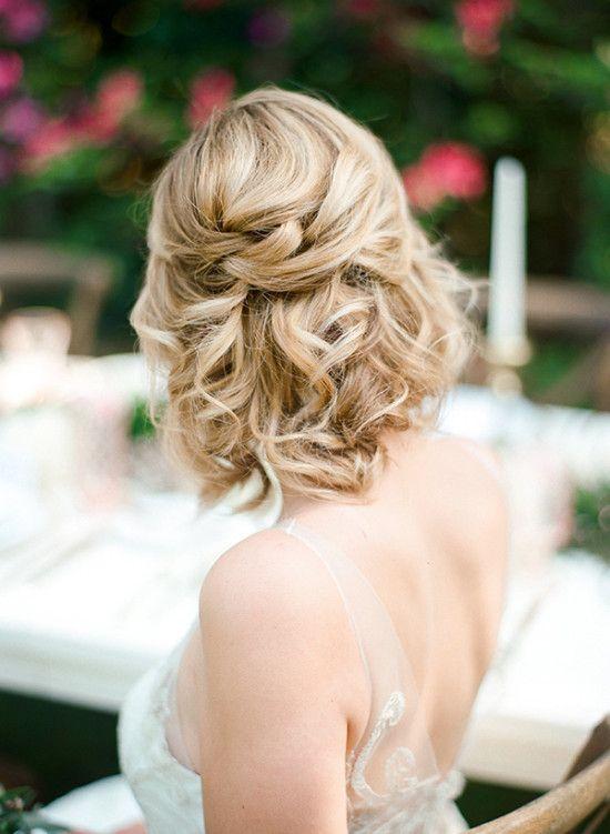half up wedding hair idea