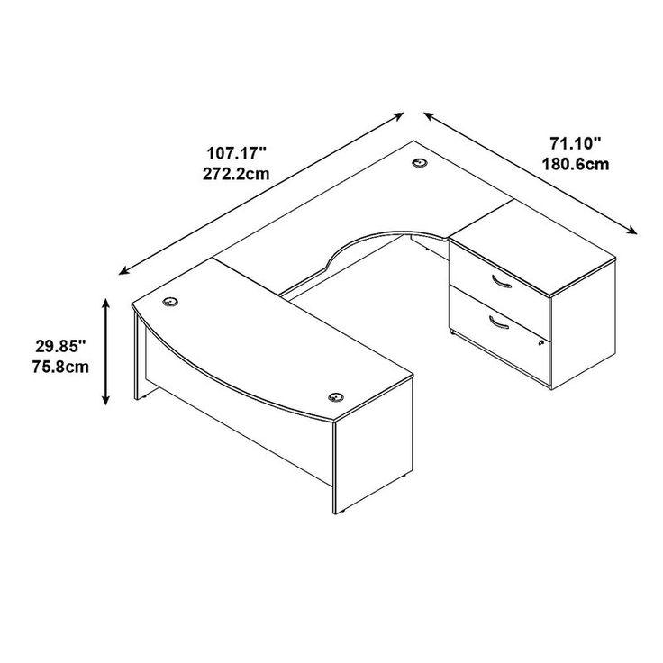 Bush Business Furniture Series C U-Shape Executive Desk & Reviews   Wayfair