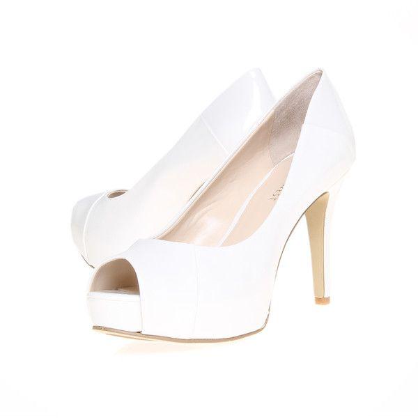 Nine West Cadee3 White ($175) ❤ liked on Polyvore