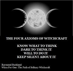 Four Axioms of Witchcraft by Raymond Buckland by Jennifer March