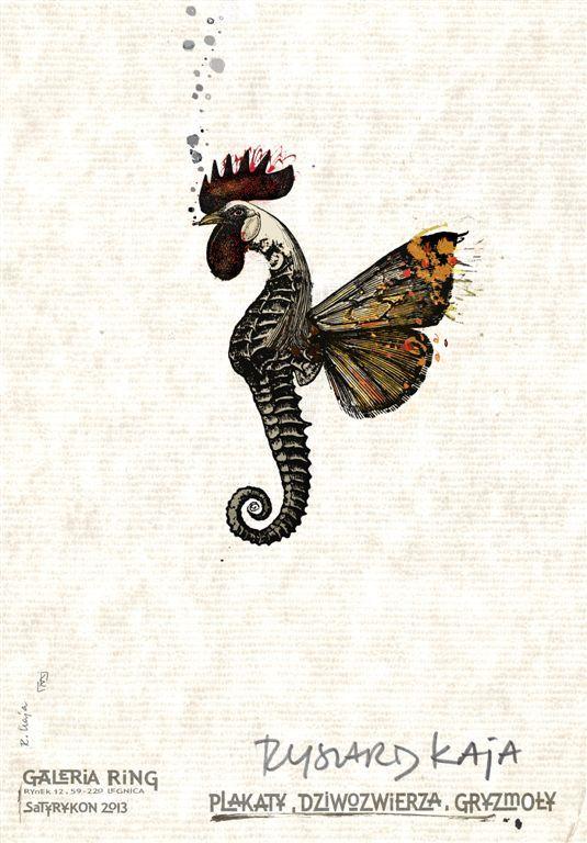 Plakat Ryszarda Kai, Plakaty, dziwozwierza, gryzmoły.
