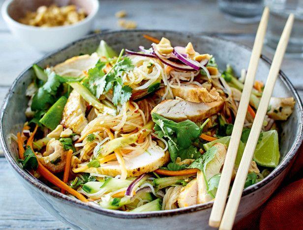 Thaisalat mit Hähnchen