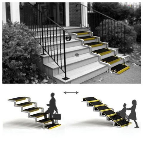 Wheelchair ramp this style converts from a ramp to a for Wheelchair home