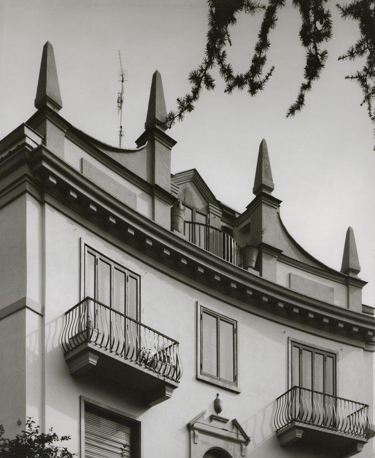 Casa in via Randaccio 9 a Milano, arch. Gio Ponti, ©Gabriele Basilico, 1980-1982