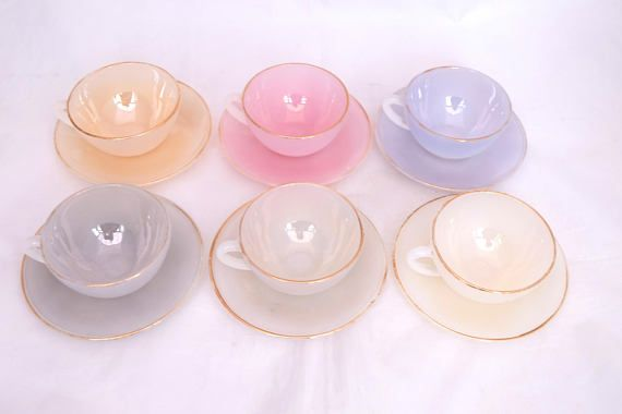 Arcopal Tea Set Opalescent Tea Set Vintage Arcopal Cups Etsy Tea Sets Vintage Tea Set Decor Home Living Room