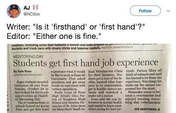 Students Get First Hand Job Experience No Experience Jobs Job Memes Get One