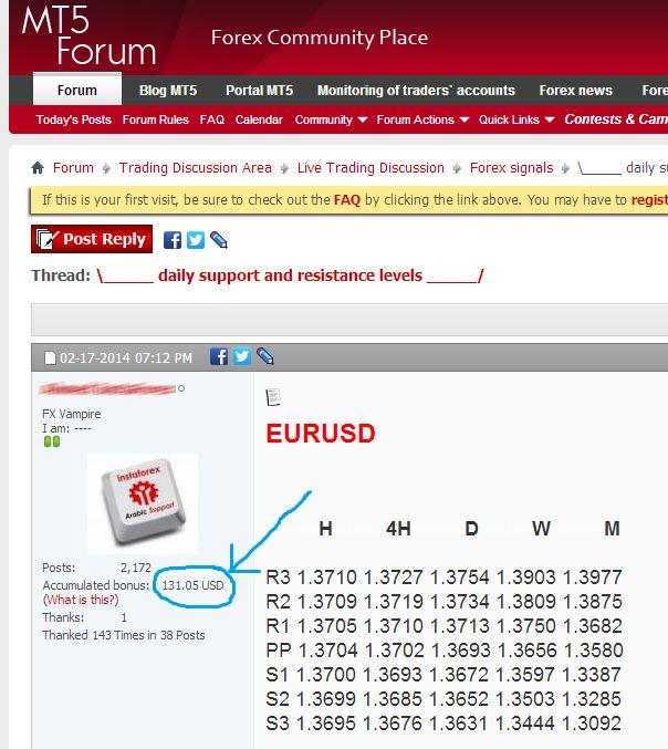 Getting forum posting bonus without trading?