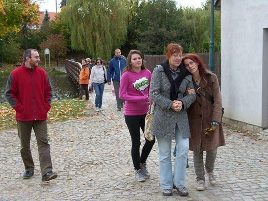 Telč...říjen 2012, Pavel, Mája, já a Kája + strašná zima...díky Kájo :)