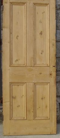 Pine door 75.5cms wide 195.5 high 3cms thick. Other sizes available