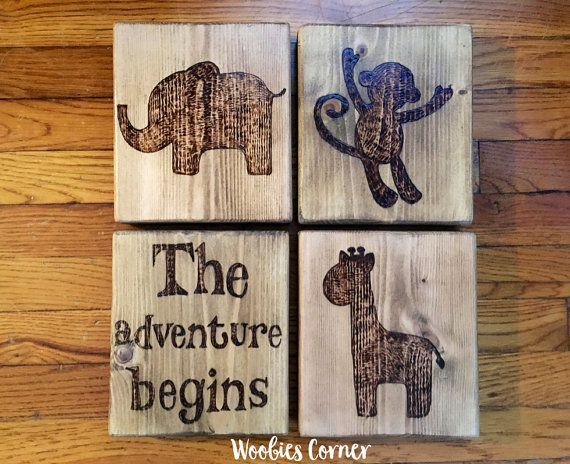 Safari nursery Safari nursery decor Rustic by WoobiesCorner