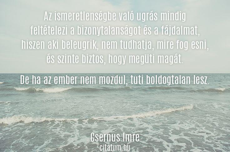 Csernus Imre idézete az ismeretlenről.