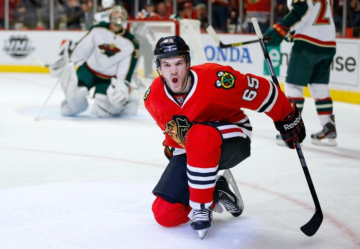 Here Kitty kitty kitty! Andrew Shaw Blackhawks-Wild Game 1
